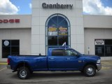 2010 Deep Water Blue Dodge Ram 3500 Big Horn Edition Crew Cab 4x4 Dually #32177817