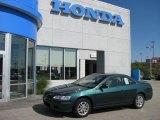 2002 Noble Green Pearl Honda Accord EX V6 Coupe #32177824