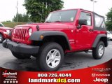 2010 Flame Red Jeep Wrangler Sport 4x4 #32177868