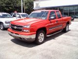 2007 Victory Red Chevrolet Silverado 1500 Classic LS Extended Cab 4x4 #32177583
