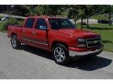 2007 Victory Red Chevrolet Silverado 1500 Classic LS Crew Cab #32178501