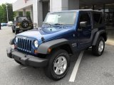 2010 Deep Water Blue Pearl Jeep Wrangler Sport 4x4 #32178513