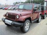 2010 Red Rock Crystal Pearl Jeep Wrangler Sahara 4x4 #32178283