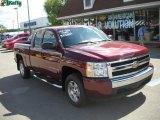 2008 Deep Ruby Metallic Chevrolet Silverado 1500 LT Extended Cab #32177969