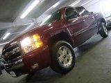 2007 Sport Red Metallic Chevrolet Silverado 1500 LT Z71 Crew Cab 4x4 #32177975
