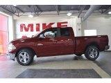 2010 Inferno Red Crystal Pearl Dodge Ram 1500 Big Horn Quad Cab #32177987