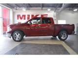2010 Inferno Red Crystal Pearl Dodge Ram 1500 Big Horn Crew Cab #32177989