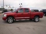 2008 Inferno Red Crystal Pearl Dodge Ram 1500 Laramie Quad Cab 4x4 #32178610