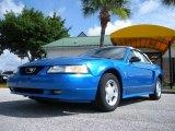 1999 Atlantic Blue Metallic Ford Mustang V6 Convertible #32178353