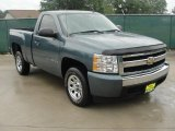 2007 Blue Granite Metallic Chevrolet Silverado 1500 LS Regular Cab #32178007