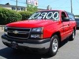 2006 Victory Red Chevrolet Silverado 1500 Work Truck Regular Cab #32178062