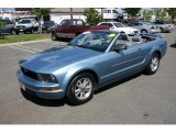 2006 Windveil Blue Metallic Ford Mustang V6 Premium Convertible #32178069