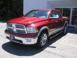 2010 Inferno Red Crystal Pearl Dodge Ram 1500 Laramie Crew Cab 4x4 #32269159
