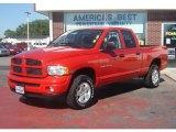 2004 Flame Red Dodge Ram 1500 SLT Quad Cab 4x4 #32268457
