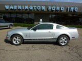 2007 Satin Silver Metallic Ford Mustang V6 Deluxe Coupe #32268882
