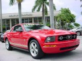 2007 Torch Red Ford Mustang V6 Deluxe Coupe #32340584