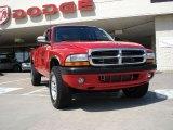 2004 Flame Red Dodge Dakota Sport Club Cab 4x4 #32341085