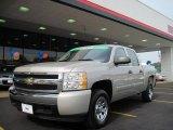 2008 Silver Birch Metallic Chevrolet Silverado 1500 LS Crew Cab #32340979