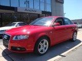 2008 Brilliant Red Audi A4 2.0T quattro Sedan #32340868