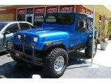 1988 Jeep Wrangler Spinnaker Blue Metallic