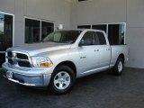 2009 Bright Silver Metallic Dodge Ram 1500 SLT Quad Cab #32391191