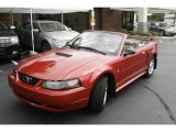 2001 Laser Red Metallic Ford Mustang V6 Convertible #3222963