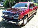 2005 Sport Red Metallic Chevrolet Silverado 1500 LS Crew Cab #32391867
