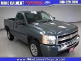 2009 Blue Granite Metallic Chevrolet Silverado 1500 LS Regular Cab #32392106