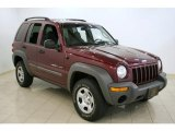 2002 Dark Garnet Red Pearlcoat Jeep Liberty Sport 4x4 #32391652