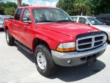 2004 Flame Red Dodge Dakota SLT Quad Cab 4x4 #32391910
