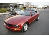 2007 Redfire Metallic Ford Mustang V6 Premium Convertible #3215586