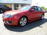 2010 Red Candy Metallic Ford Fusion Sport #32391288