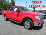 2010 Vermillion Red Ford F150 XLT SuperCab #32391290