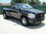 Brilliant Black Crystal Pearl Dodge Ram 3500 in 2008