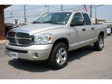 2008 Bright Silver Metallic Dodge Ram 1500 Laramie Quad Cab 4x4 #32467059