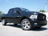 2010 Brilliant Black Crystal Pearl Dodge Ram 1500 Sport Crew Cab 4x4 #32466374