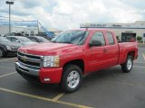 2010 Victory Red Chevrolet Silverado 1500 LT Extended Cab 4x4 #32535172