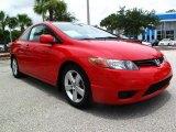 2007 Rallye Red Honda Civic EX Coupe #32534603