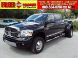 2007 Brilliant Black Crystal Pearl Dodge Ram 3500 Laramie Mega Cab 4x4 Dually #32535384