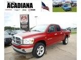 2007 Inferno Red Crystal Pearl Dodge Ram 1500 Big Horn Edition Quad Cab #32534856