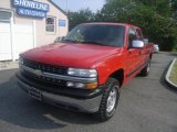 2001 Victory Red Chevrolet Silverado 1500 LS Extended Cab 4x4 #32535220