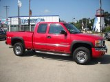 2005 Fire Red GMC Sierra 2500HD SLE Extended Cab 4x4 #32535447
