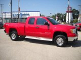 2009 Fire Red GMC Sierra 2500HD SLE Extended Cab 4x4 #32535454