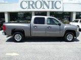 2009 Graystone Metallic Chevrolet Silverado 1500 LS Crew Cab #32534955
