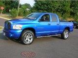 2007 Electric Blue Pearl Dodge Ram 1500 Sport Quad Cab 4x4 #32535285