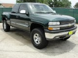 2002 Forest Green Metallic Chevrolet Silverado 1500 LS Extended Cab 4x4 #32534980