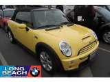 2005 Liquid Yellow Mini Cooper S Convertible #32535000