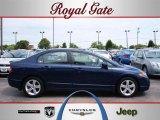 2007 Royal Blue Pearl Honda Civic EX Sedan #32603716