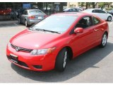 2007 Rallye Red Honda Civic EX Coupe #32603781