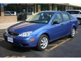 2005 French Blue Metallic Ford Focus ZX4 SE Sedan #32604819